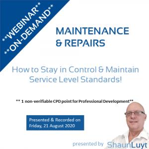 20200821 - Webinar-On-Demand #9 (WooCommerce) - Maintenance & Repairs