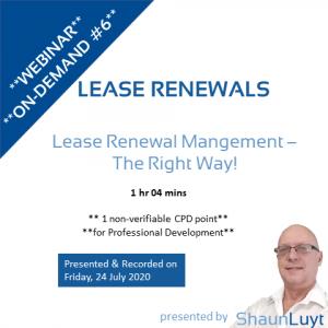 Webinar-On-Demand #6 - Lease Renewals
