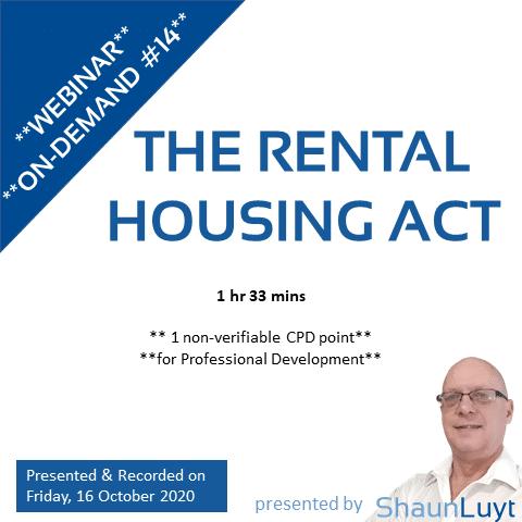 20200915 - WOD #14 - The Rental Housing Act