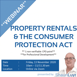 Webinar #16 - Property Rentals & The COnsumer Protection Act