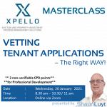 Xpello Rental MasterClass: Vetting Rental Applications - The Right Way! (20 Jan 2021, 08:30 - 11:00)