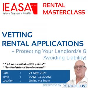 IEASA MasterClass - Rental Applications (20210521)